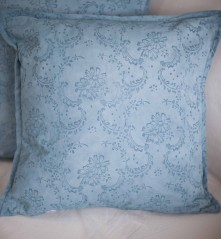 Ready made cushion dyed & printed with Annie Sloan paint and patterned paint roller no.12