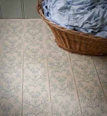 Floor painted and printed with Tapet patterned paint roller & Annie Sloan paints